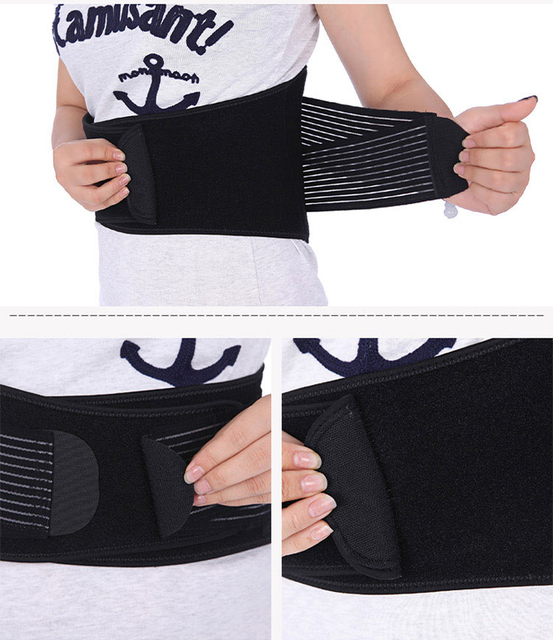 2016 New Arrival Adjustable Double Pull Lumbar Support Lower Waist Back Belt Brace Pain Relief