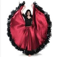 Spanish Bullfight Festival Performance Dance Flamenco Skirts Falda Flamenca Gypsy Skirt For Women Plus Size Belly Skirt DL2873