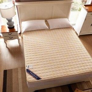 Image 4 - Luxury 100% Cotton Quilted Mattress filled massage thicken 7cm memory foam mattress