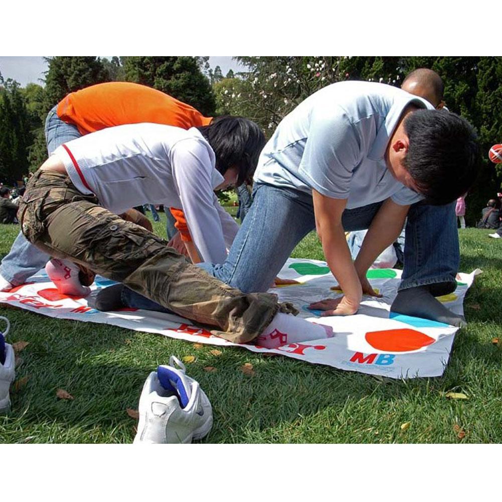 divertido cuerpo twister juego de mesa se mueve grupo partido deporte al aire libre juguete de