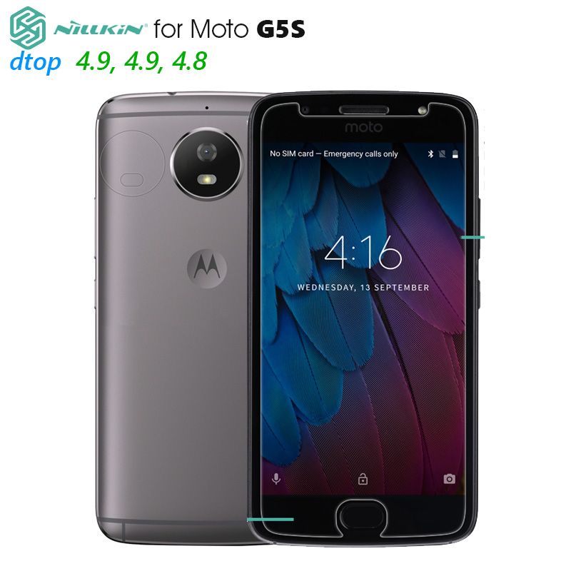 Nillkin Tempered Glass for Moto G5S Amazing H Screen Protector Protective Film Anti-Explosion 141mm x 65mm