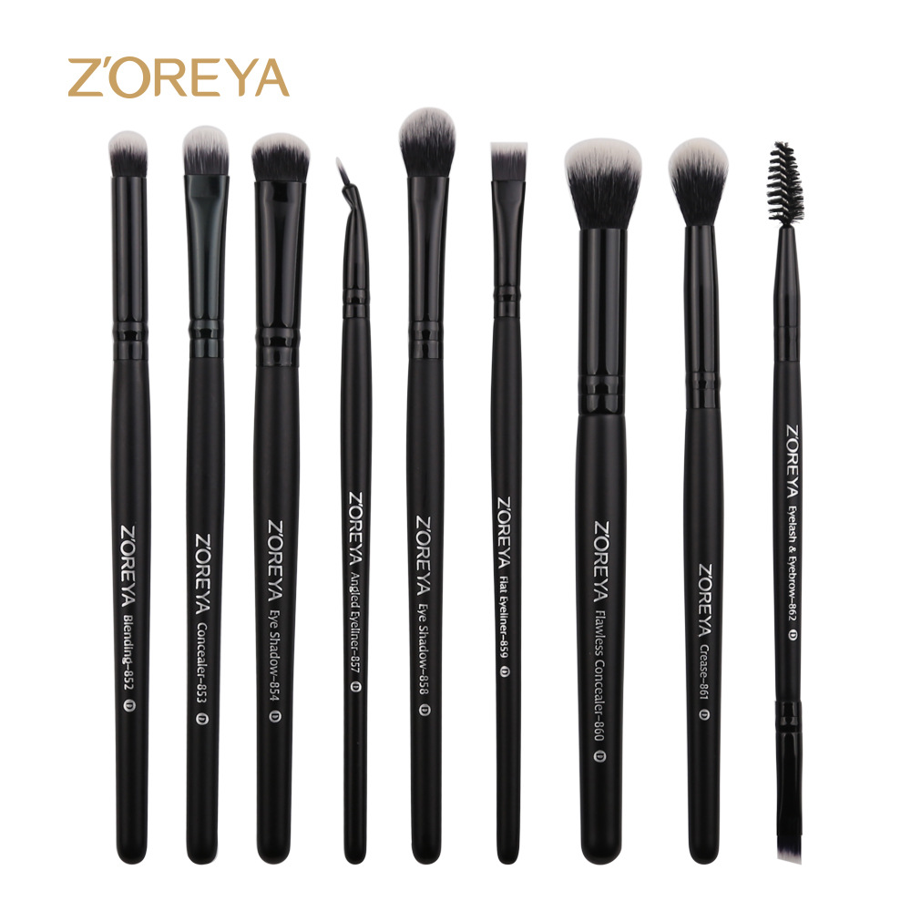 9pcs Eyeshadow Makeup Brushes Set Eye Shadow Blending Make Up Brushes Beauty Tools Soft Synthetic Hair For Beauty ...