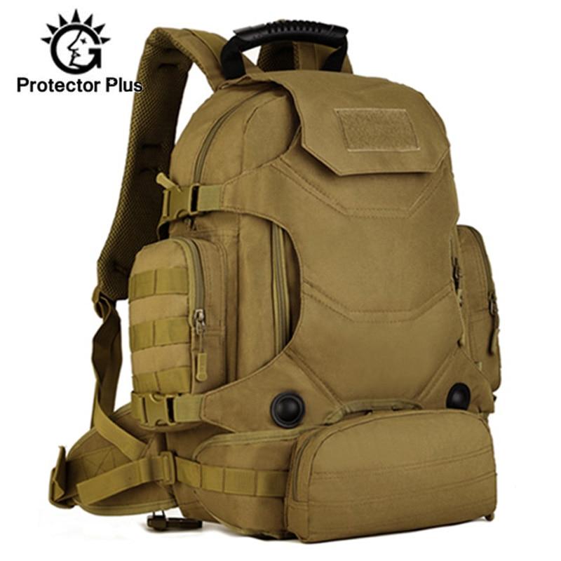 40L militaire sac à dos multi-fonction 3 en 1 hommes tactique sac à dos taille Pack combinaison alpinisme voyage randonnée XA46D