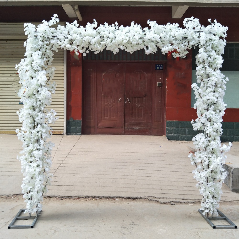 Nouvel ensemble de fleurs de cerisier en forme d'arches (fleur avec cadre) pour centres de décoration d'événement de mariage