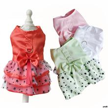 Summer Dog Dresses for Small Dogs Star Princess Chihuahua Harness Dress Cat Clothes Pet XXS -XL