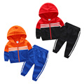 The baby movement set 2017 new spring boy kids children jacket pants two piece boys and girls soprtsclothing casual children set