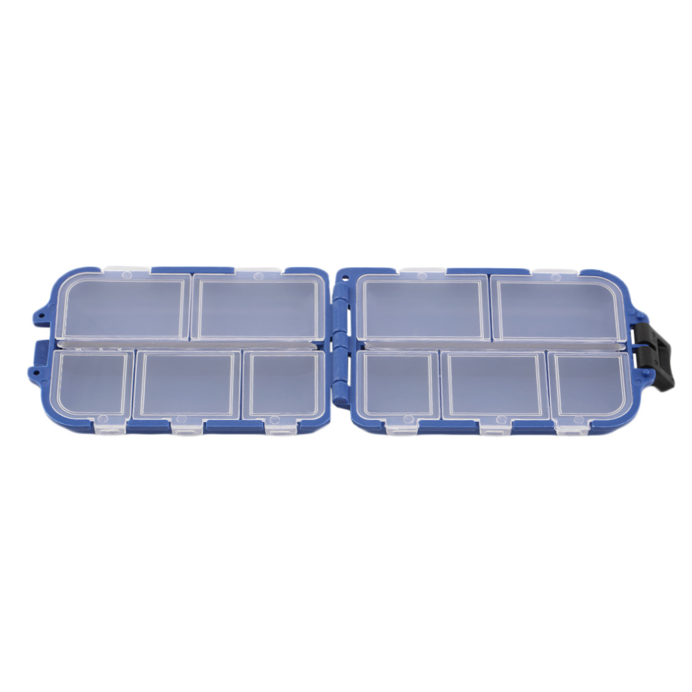 New 10 Compartments Storage Case Box Fly Fishing Lure Spoon Hook Bait Tackle Box Case Fishing Accessories