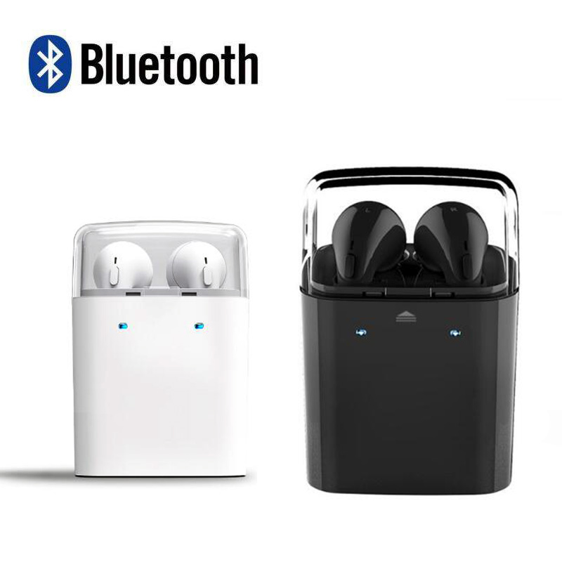 GF7 Ear Hook Bluetooth 4.1 Earphones Headphone Wireless Noise Cancelling With Microphone Portable Voice prompt For Phones Tablet new bluetooth mini bh320 earphones universal noise cancelling bluetooth headset with ear hook for samsung all blutooth phones