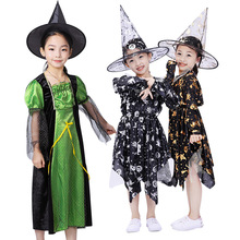 Halloween costumes children's witch dresses cosplay witch dresses kindergarten characters dress up as acting costumes стоимость