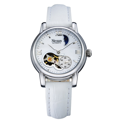 Switzerland New Luxury Brand Nesun Hollow Women Watch Automatic Self-Wind Stainless steel Clock Waterproof Watches women N9061-4 | Fotoflaco.net