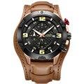MEGIR Männer Uhr Chronograph Sport Herren Uhren Top Brand Luxus Wasserdichte Leder Quarz Gold Uhr Männer Relogio Masculino-in Quarz-Uhren aus Uhren bei