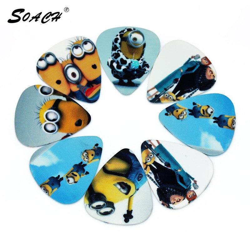 Soach 10 unids/lote 0.71mm espesor gente pequeña de color amarillo, pedal de sel