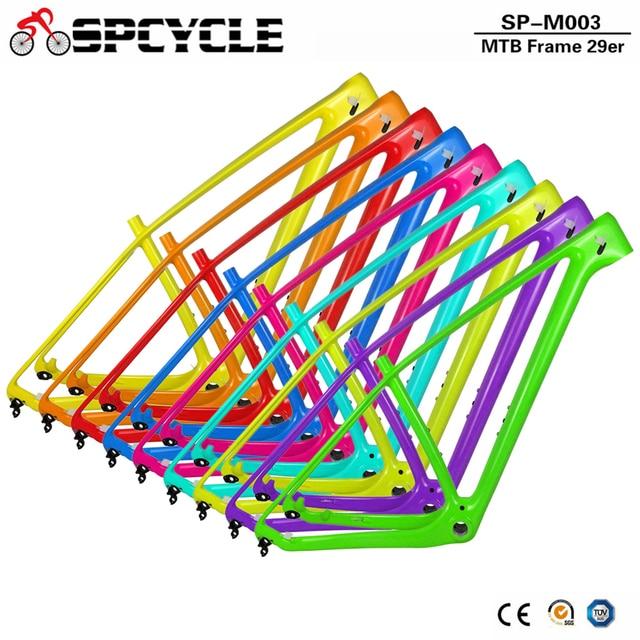 Spcycle 27.5er 29er T1000 פחמן MTB אופניים מסגרת 650B הרי אופני פחמן מסגרת BSA 73mm תואם עם 142*12mm או 135*9mm