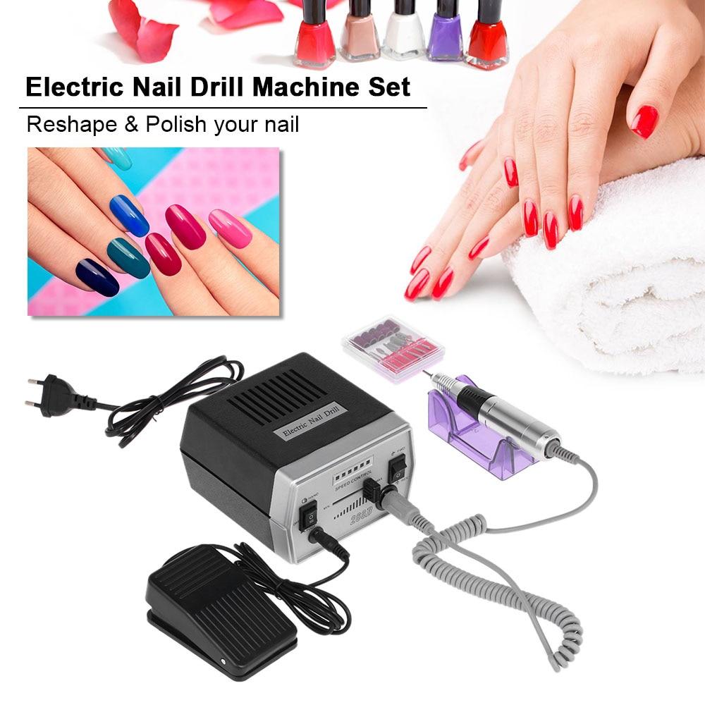 Electric Nail Drill Pen File Polisher Machine Set Nail Glazing ...