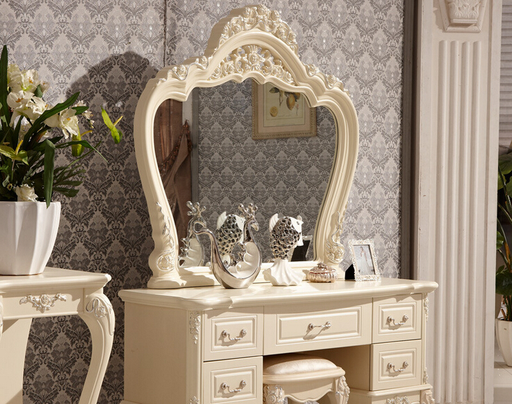 US $512.0 |Ivory white bedroom dresser antique rubber wood dresser 0409  A822-in Dressers from Furniture on AliExpress