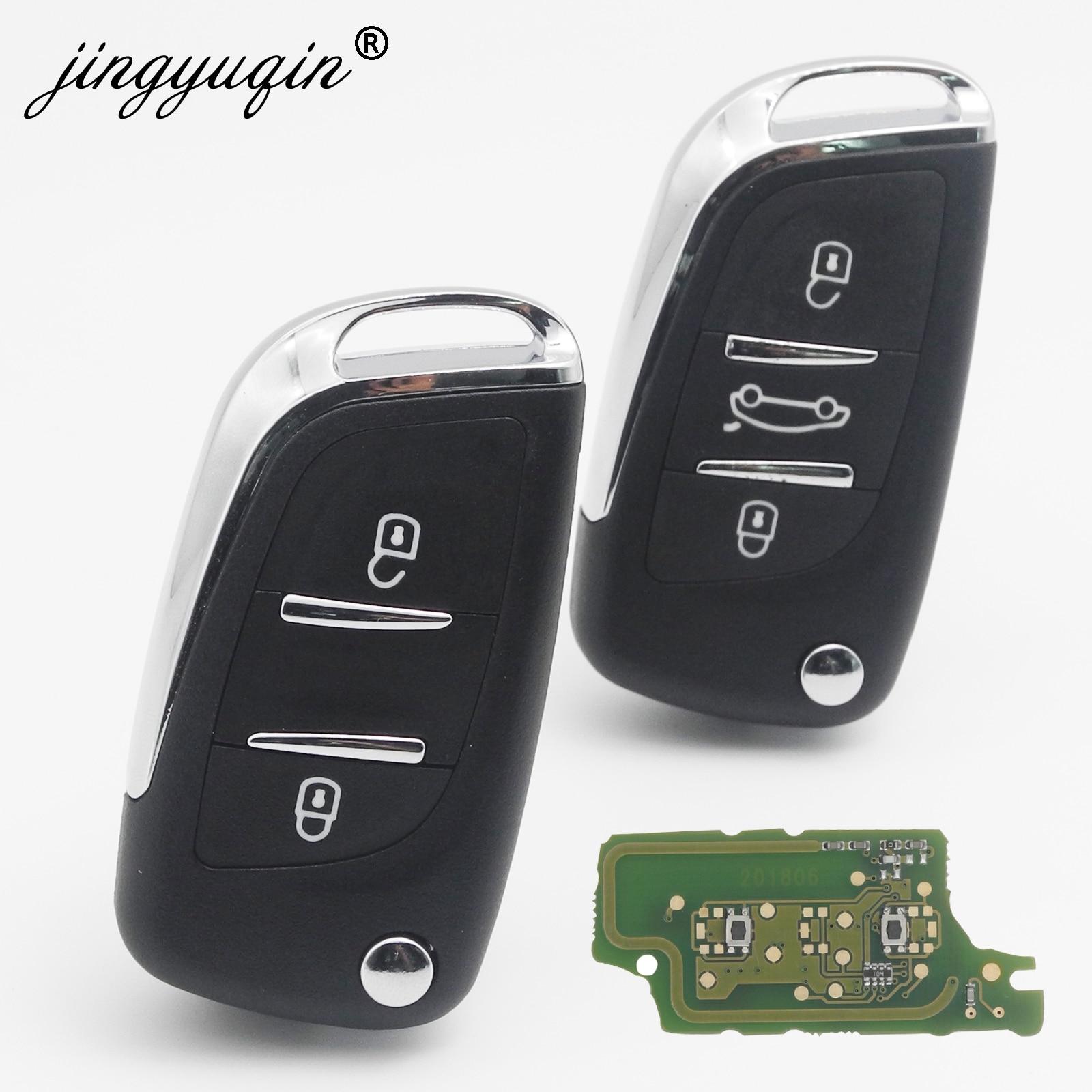 Jingyuqin 433MHz ASK/FSK Modified Flip Remote Car Key For Citroen PICASSO C2 C3 C4 C5 C6 C8 CE0536 VA2/HU83 PCF7961 2/3 BTN Key