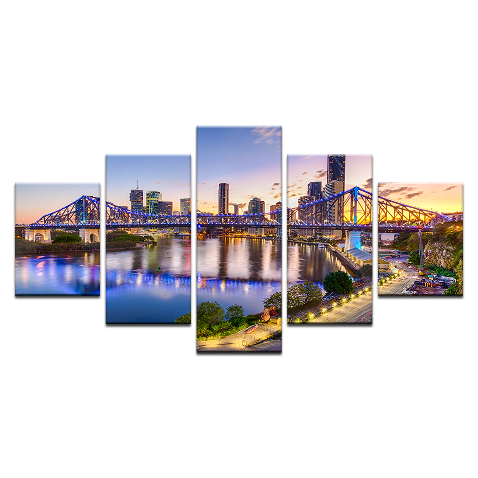 Wall Art Pictures Home Decor Frame 5 Pieces HD Printed