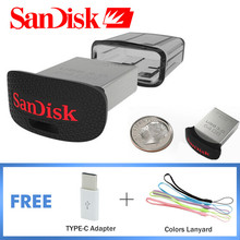 SanDisk Ultra Fit Pendrive 16 gb Usb 3.0 CZ43 Mini Usb Flash Drive High Speed Up to 130MB/S Memory Stick 16gb 32gb 64gb 128gb