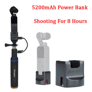 Image 2 - 5200mAh Battery Hand Grip Monopod W/Base Mount Holder Fixed 1/4 Screw USB Charging Port Type C for Dji Osmo Pocket Accessories