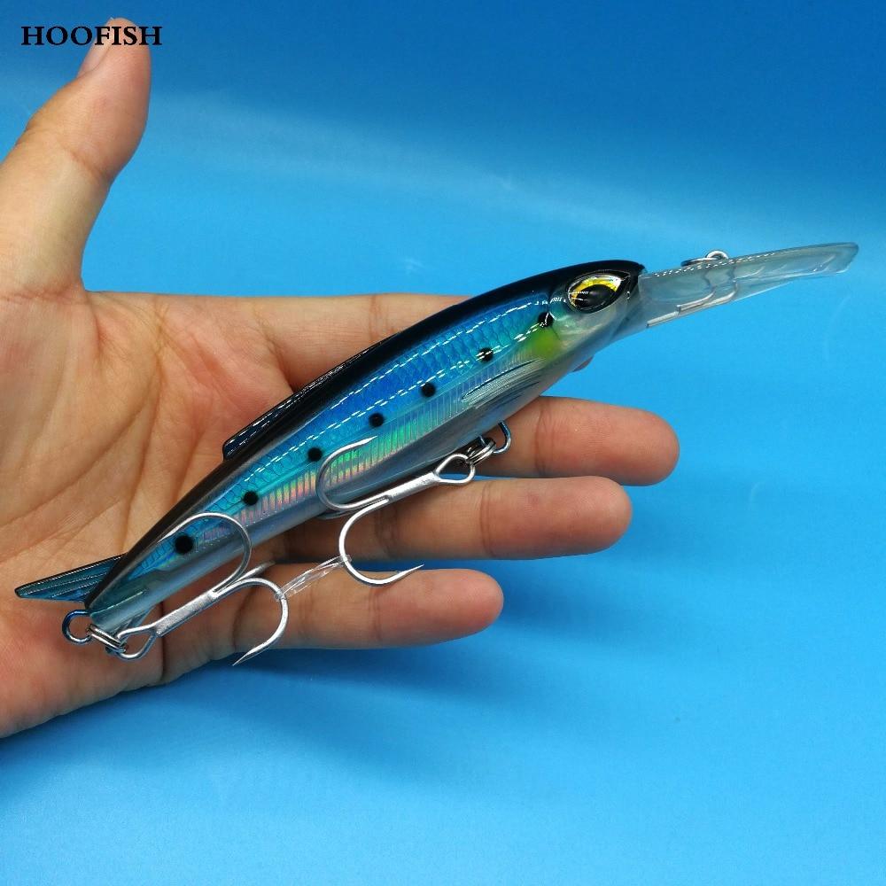 HOOFISH 1PCS minnow hard lure 32g/12cm depth 0-4.5m Floating fishing lure Artificial Bait Big Tongue minnow Fishing Tackle