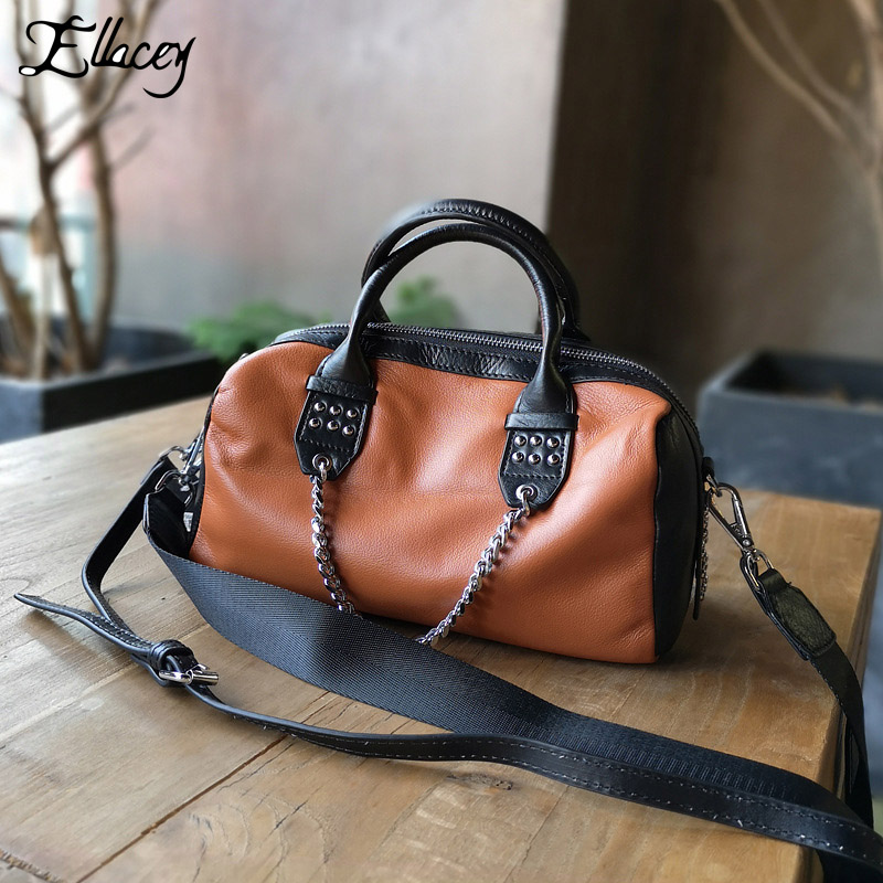 2018 OL Stylish Handbag High quality Business Female Genuine Leather Women Shoulder Messenger Bag Rivet Travel Casual Tote Bag чайник marta mt 1095 красный гранат 2200 вт 2 л стекло