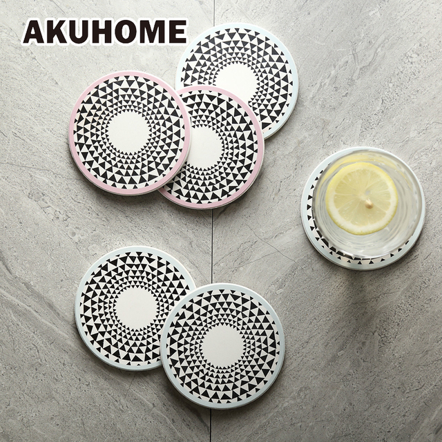 Geometric Pattern Square Round Ceramic Coffee Cup Holder Saucer Dishes Fruit Plates Afternoon Tea Dishes Fruit  sc 1 st  AliExpress.com & Geometric Pattern Square Round Ceramic Coffee Cup Holder Saucer ...