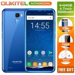 Oukitel K5000 5.7 Inch 18:9 Infinity Display Smartphone 5000mAh Android 7.0 4GB RAM 64GB Octa Core 16MP Fingerprint Mobile phone