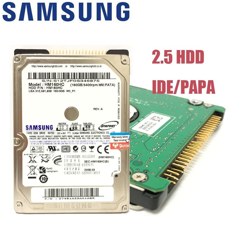 SAMSUNG Taccuino Del Computer Portatile 40 gb 60 gb 80 gb 120 gb 160 gb 40g 60g 80g 120g 160g 2.5 HDD Interno 5400 rpm 8 m PAPA IDE Hard Disk