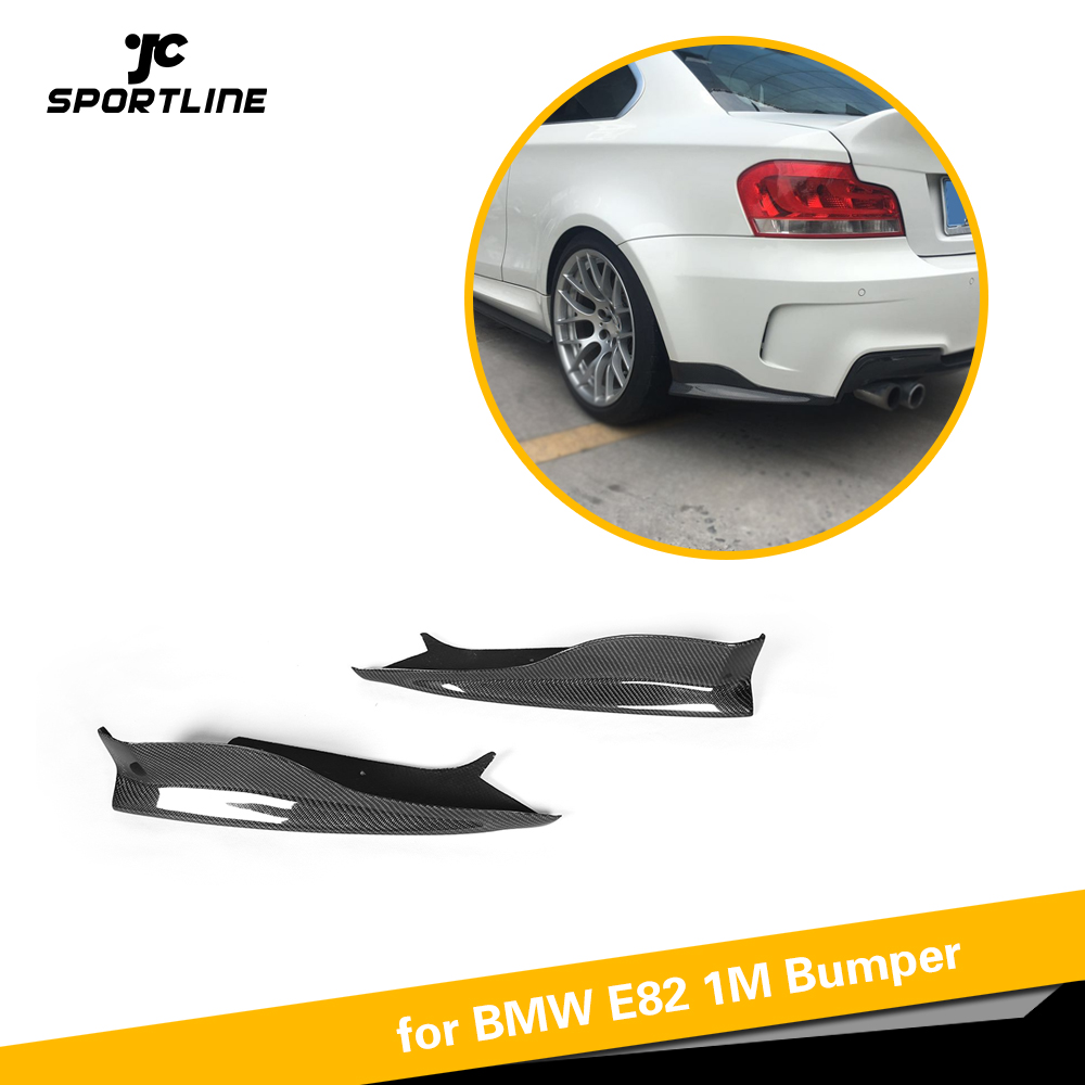 Carbon Fiber / FRP Car Rear Bumper Lip Splitters Apron Flaps for BMW 1Series 125i 128i 1M E82 M Coupe Bumper 2011 - 2013