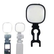 5600 K/3200 K Ayarlanabilir Doldurmak Led Işık Lamba + Braketi Kelepçe Adaptörü için DJI Osmo Cep El Özçekim taşınabilir