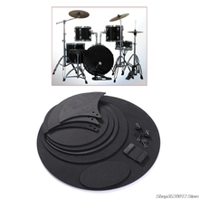 Drumming Silencer Snare-Drum Practice-Pad-Set Professional Mute Sound-Off Bass Rubber