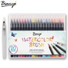 Bianyo 20 farben künstler skizze marker stift set für schüler zeichnung malerei pinsel stift aquarell manga marker künstlerbedarf