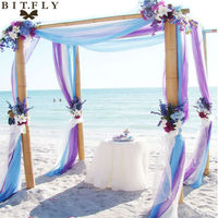 Free Shipping Royal Blue Size 5M 1 35M Sheer Organza Swag DIY Fabric Wedding Party Banquet