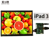 E&M 9.7 Inch 2048*1536 2K Retina Monitor Hdmi Driver Board LCD Module Screen DIY Kit for Raspberry Pi 3 Auto Car Display Windows