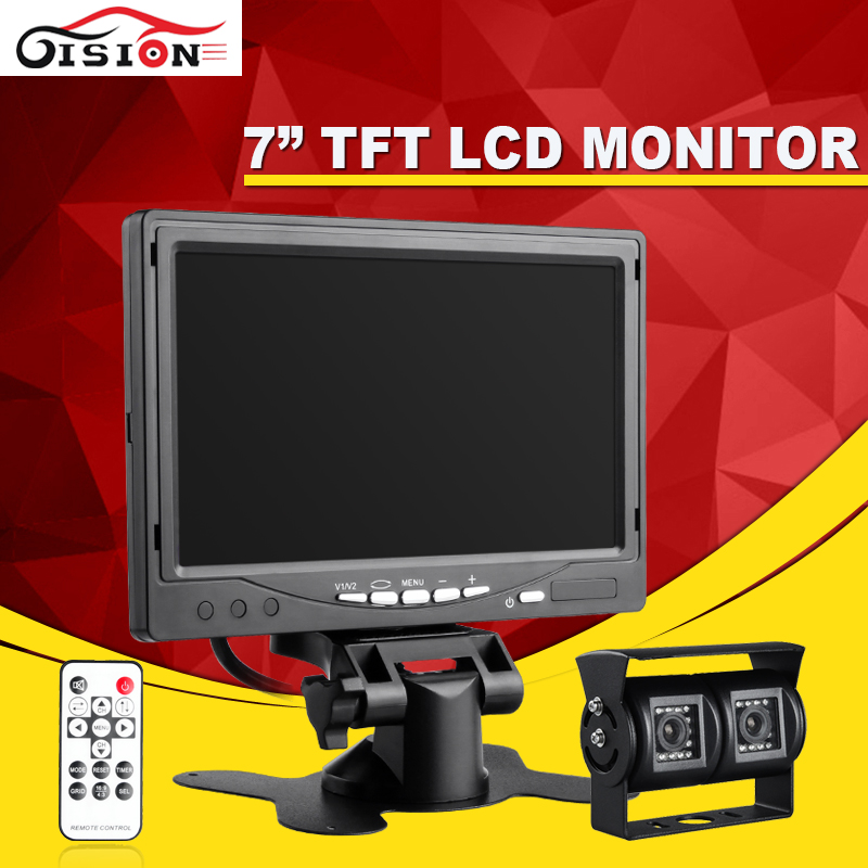 420TVL 3.6mm CCD Car Rearview Parking Camera With 7Inch TFT LCD Monitor For Reversing Backup Car Monitor Kits