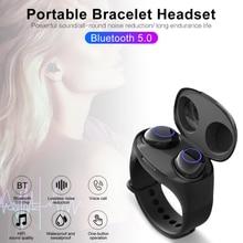 Get more info on the HM50 TWS Bluetooth In-ear Wireless Earbuds EarPhones HiFi Bluetooth 5.0 Earphones Portable Smart Wristband Wireless Headset