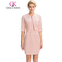 Grace Karin Mother Of The Bride Dresses Lace Knee Pink Evening Wedding Party Elegant Formal Special
