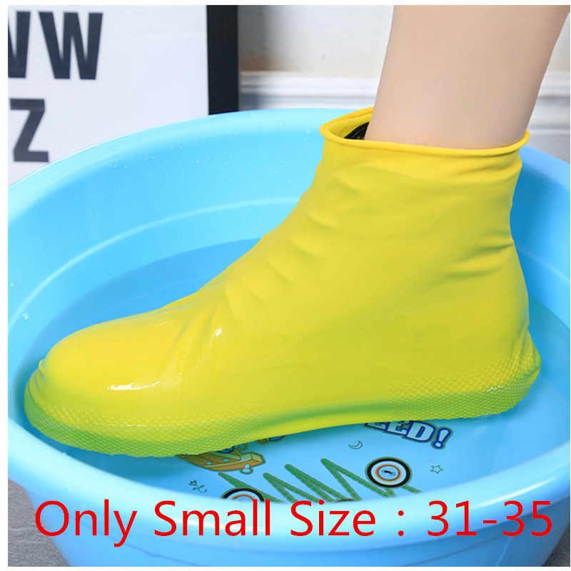 Sıcak 1 çift su geçirmez kullanımlık yağmur ayakkabıları kapakları kauçuk kaymaz yağmur botu galoş erkekler kadın ayakkabı aksesuarları araçları S