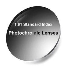 ใหม่ 1.61 Photochromic เดียว Vision เลนส์ Fast และลึกสีการเปลี่ยนประสิทธิภาพ Anti   Reflective เคลือบเสร็จสิ้น