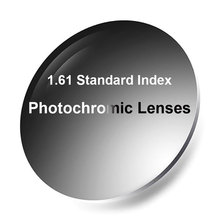 New 1.61 Photochromic Single Vision Lenses Fast and Deep Dark Color Chaning Performance with Anti Reflective Coating Finish
