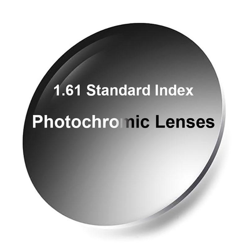 Nouveau 1.61 Photochromiques Verres Unifocaux Rapide et Profonde Couleur Chaning Performance avec Anti-Reflet Foncé Finition