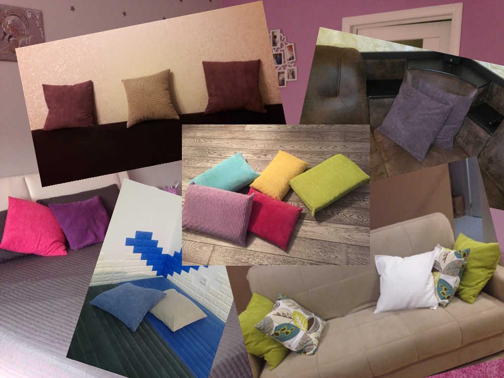 פוליאסטר משובץ רך קורדרוי קטיפה צבע מוצק לזרוק כרית כרית בית ספה דקור רכב הציפית אישית 40/45 /50/60/70 cm