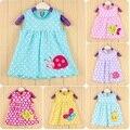 Vestidos de bebe joaninha 0-dois anos do bebê girls dress infantil blusas roupas de bebê vestido de verão 100% roupas de algodão meninas