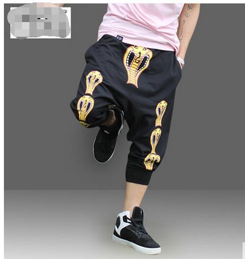 4c147de39f XL-6XL!!! Big yards men s trousers 2018 Plus size casual capris print  teenage personalized hanging crotch pants harem pants