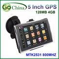 5 polegada carro gps, Gps de navegação MTK 800 Mhz CPU 4 gb, Ddr 128 mb, O oferta