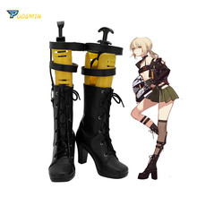 Fate Grand Order FGO Arutoria Pendoragon Cosplay Boots High Heel Shoes Black annie black fate s tricky methods