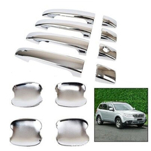 8x Chrome Door Handle Catch Cover +4x Bowl Kit