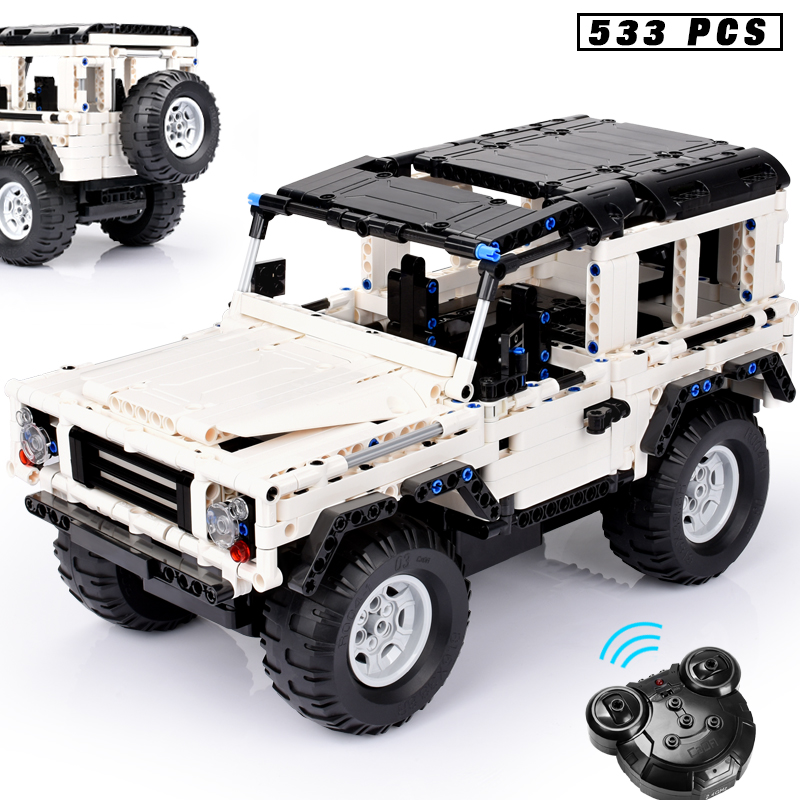 Technic Series Blocks 553 PCS Defender RC Car Model SUV DIY Building Block Brick Toys For
