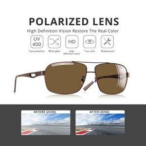 Image 3 - Aofly marca design masculino óculos de sol polarizados metal quadrado óculos de sol óculos de condução máscaras para masculino af8185