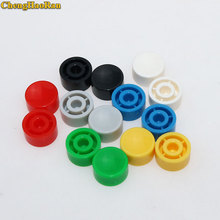 ChengHaoRan 20 шт A17 пластиковые тактильные кнопки переключения колпачки кнопочные колпачки многоцветные вогнутые 5,3*10 мм для 6*6 круглых тактных переключателей